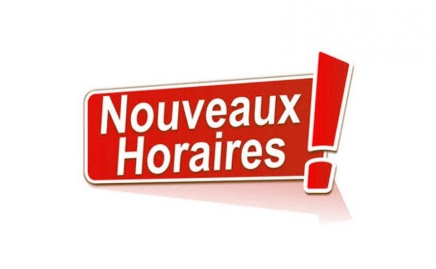 HORAIRES COURS DU 24/05 AU 30/05